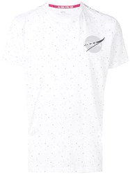 Alpha Industries Nasa Star Print T Shirt White