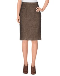 Laltramoda Skirts Knee Length Skirts Women Khaki