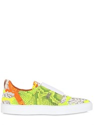 Rodolphe Menudier Neon Python Leather Sneakers