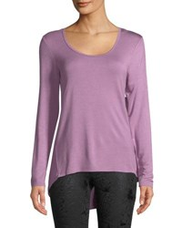 The Balance Collection Evy Long Sleeve Layering Tee Purple