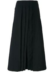 Christophe Lemaire Cropped Pleated Pants Black
