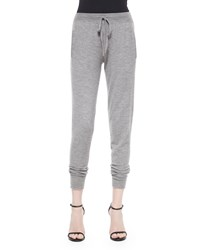 Donna Karan Stretch Cashmere Blend Sweatpants Size S Pale Falnnel
