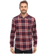 O'neill Kingsbay Woven Red Brick Men's Long Sleeve Button Up Gold
