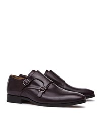 Reiss Filmore Mens Double Monk Strap Shoes In Red