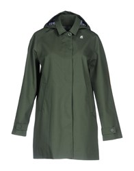 K Way Overcoats Green