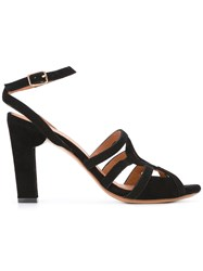 Chie Mihara Saphira Sandals Women Leather Suede 39 Black