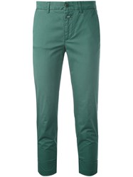 Closed Cropped Chino Trousers Women Cotton Spandex Elastane 30 Green
