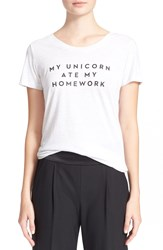 Milly 'My Unicorn Ate My Homework' Graphic Tee Heather Grey