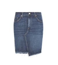 Rag And Bone Dive Denim Skirt Blue