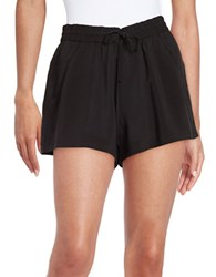 French Connection Crepe Shorts Black