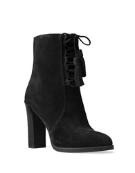 Michael Kors Odile Lace Up Suede Ankle Boots Black