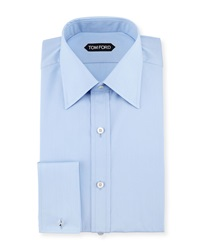 Tom Ford Slim Fit French Cuff Dress Shirt Blue