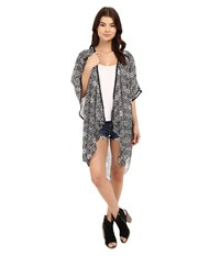 Bcbgeneration Bella Kimono Black White Women's Clothing