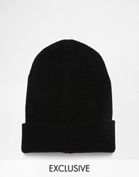 Reclaimed Vintage Oversized Beanie In Black Black