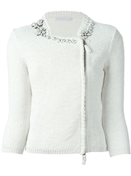Ermanno Scervino Embellished Zipped Cardigan