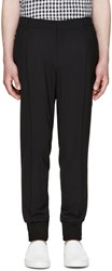 Wooyoungmi Black Wool Zip Trousers