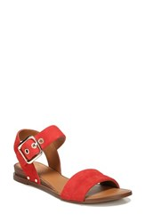 Sarto By Franco Sarto 'S Patterson Low Wedge Sandal Pop Red Suede
