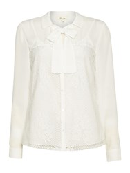 Linea Lace Collar Shirt Ivory