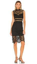 Saylor Siren Dress In Black.