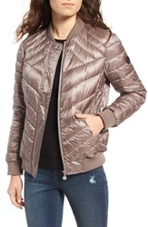 Bernardo Women's Water Resistant Insulated Bomber Jacket Moonrock