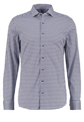 Eterna Slim Fit Shirt Blau Grau Blue Grey