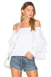 Endless Rose Tiered Top White