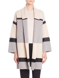 Vince Colorblock Wool Cashmere Car Coat