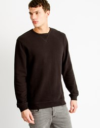 Only And Sons Mens Crew Neck Striped Sweatshirt Black