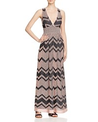 M Missoni Metallic Knit Maxi Dress Med Pink