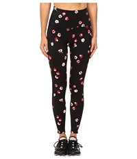 Kate Spade New York X Beyond Yoga High Waist Back Bow Leggings Falling Floral Women's Casual Pants Pink