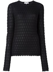 Carven Textured Knit Jumper Black