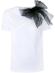Red Valentino Tulle Bow T Shirt White