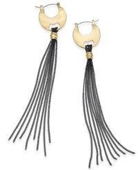 Thalia Sodi Gold Tone Hoop And Tassel Linear Earrings Only At Macy's