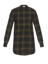 Helmut Lang Plaid Wool And Cashmere Blend Shirt