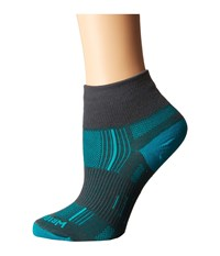 Wrightsock Stride Quarter Ash Turquoise Quarter Length Socks Shoes Green