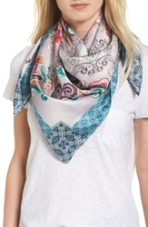 Johnny Was Women's Saint Square Silk Scarf Mixed Print