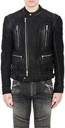 Balmain Multi Zip Moto Jacket Black