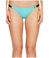 Hurley Quick Dry Cheeky Bottom Washed Teal Women's Swimwear Blue