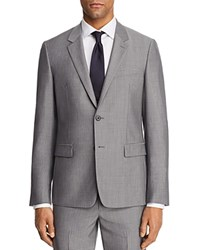Theory Chambers Tailored Gingham Slim Fit Suit Separate Sport Coat Gray