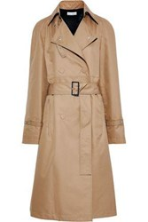 Paco Rabanne Woman Belted Cotton Blend Gabardine Trench Coat Light Brown