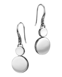 Dot Silver Double Drop Earrings John Hardy