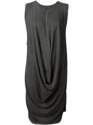 Lost And Found Short Draped Dress Grey