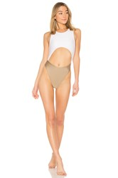 Baja East Cut Out One Piece White