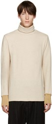 Umit Benan Beige Wool Turtleneck