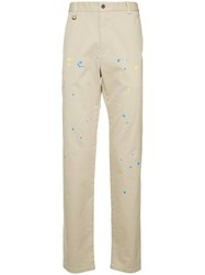 Guild Prime Splash Print Chinos Nude And Neutrals
