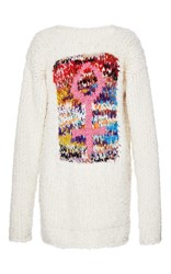 Missoni Hand Knit Oversized Pullover White