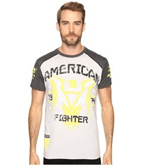American Fighter Chicago Short Sleeve Tee Heather Grey Charcoal Men's T Shirt Gray