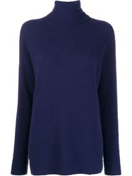 Odeeh Roll Neck Jumper Blue