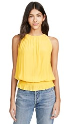 Ramy Brook Sleeveless Lauren Top Lemon