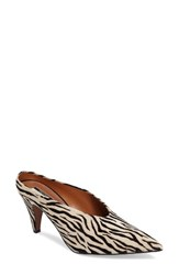 Topshop Women's Juicy Pointy Toe Pump Zebra Print Leather